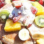 【アウトドア ハワイごはん-Taste of Hawaii-⑧】ハワイアンなタロイモフルーツパンケーキ